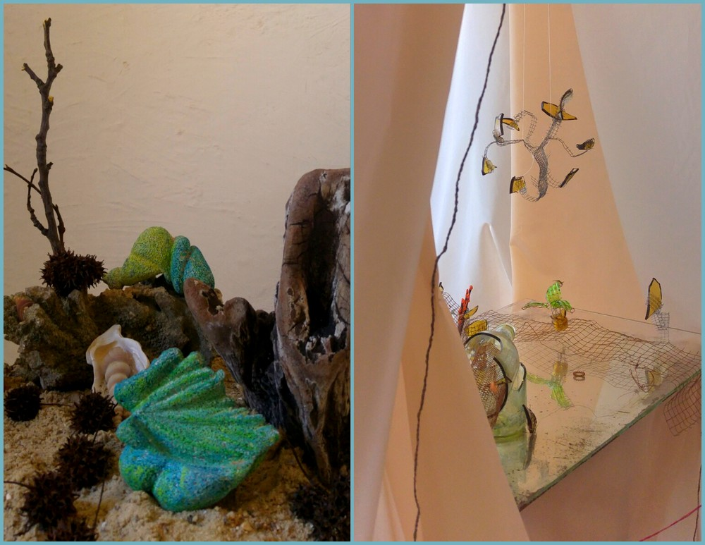 Sculptures de Nathalie Fiala et installation de M.I.
